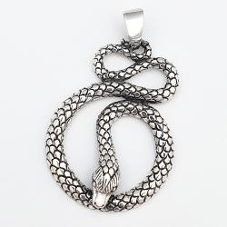 Colgante de plata serpiente largo