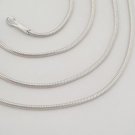 collar de plata Serpiente