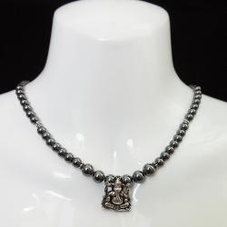Ganesh pendant Hematite Necklace