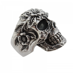 Anello cranio fiori
