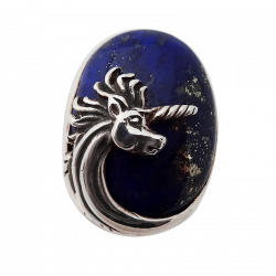 Unicorn and stone ring