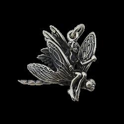 Ciondolo in argento: Fairy su una libellula