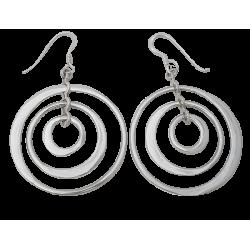 Boucles d'oreilles anneaux mobiles