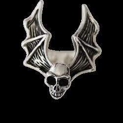 Anello in argento 925 teschio alato
