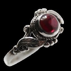 hojas anillo de plata 925 y piedra semipreciosa