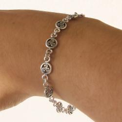Bracciale Triskel in argento 925