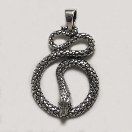 Pendentif serpent argent 925