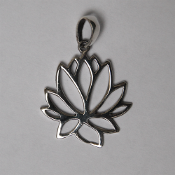 Flower pendant Silver and turquoise (rebuilt)