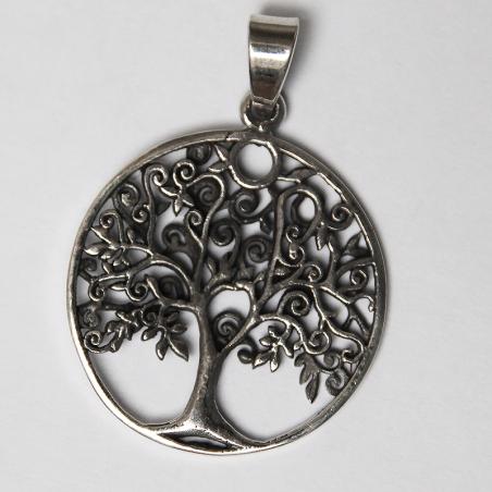 tree silver pendant