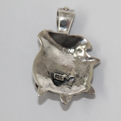 Silver Bulldog Dog Head Pendant