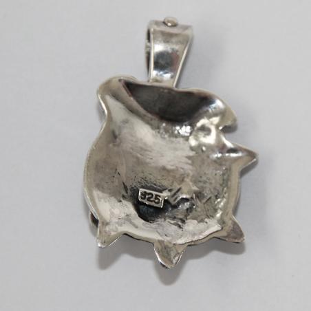 Ciondolo testa di cane Bulldog argento