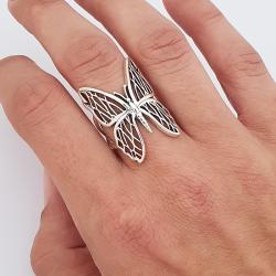 Anillo mariposa plata 925