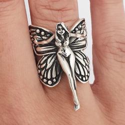 anello Grandi ali di fata