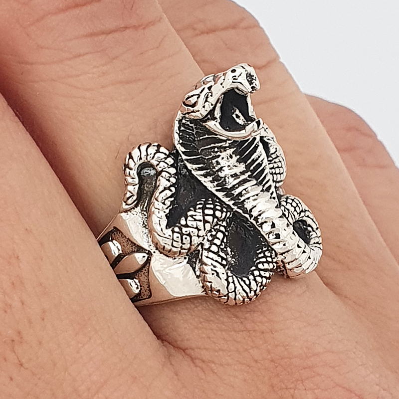 Snake ring and lily