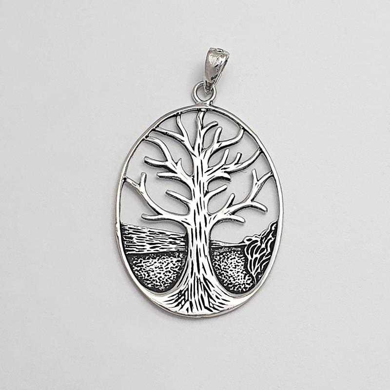 Colgante de plata árbol della vita