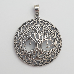 ciondolo d'argento albero