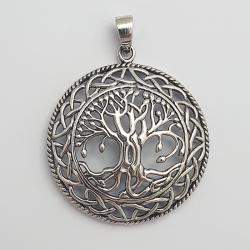 Colgante de plata árbol