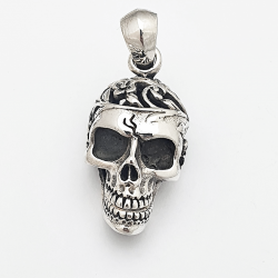 Skull pendant articulated