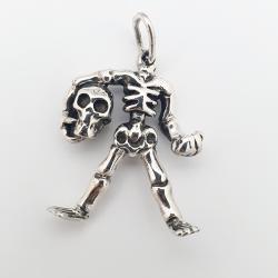 Pendentif squelette tête de mort